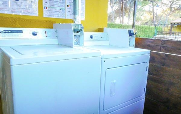 camping, instalaciones, lavadora, secadora